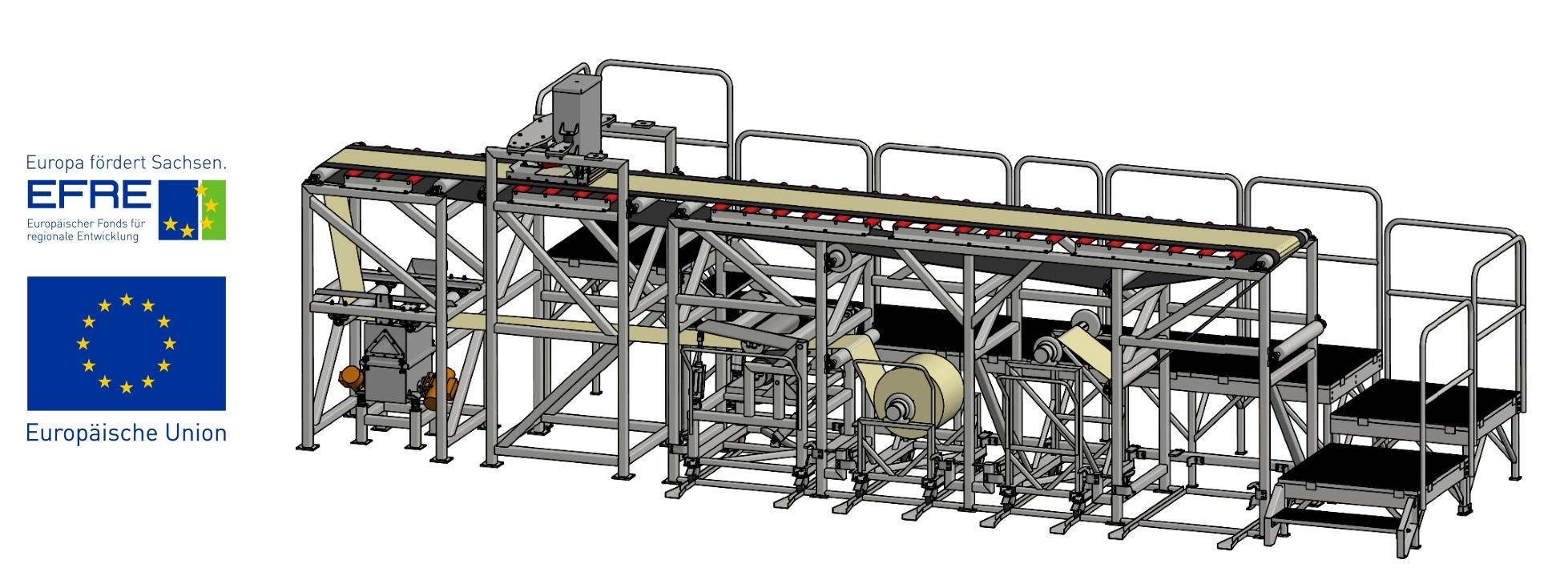 Entwicklung effizienter Partikelschwerkraftauftragstechnik für Schleifbänder, Kalandertechnologie und Spanplatten unter Verbesserung der Ressourcenproduktivität, Umweltverträglichkeit und Qualität