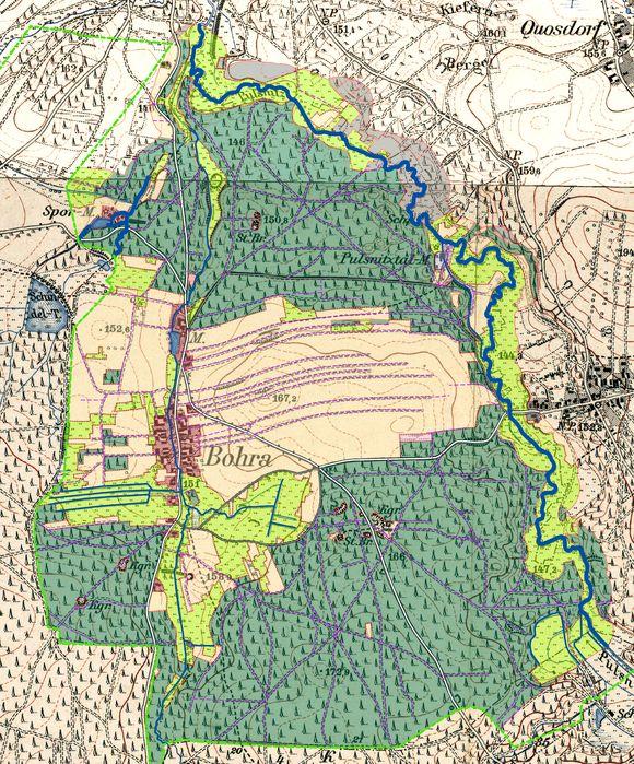 Dokumentation des historischen Landschaftswandels und von Zusammenhängen mit naturräumlichen Grundlagen für das Gebiet der Königsbrücker Heide