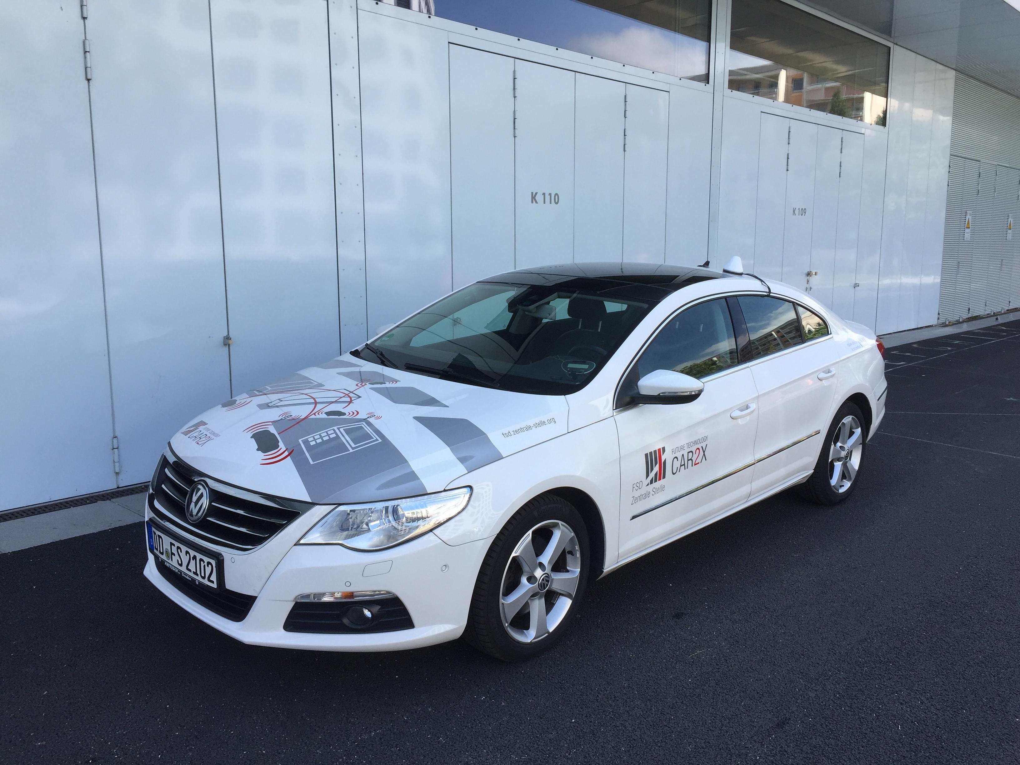 Entwicklung von Prüftechnologie für vernetzte Fahrzeuge (Car2x-Kommunikation)
